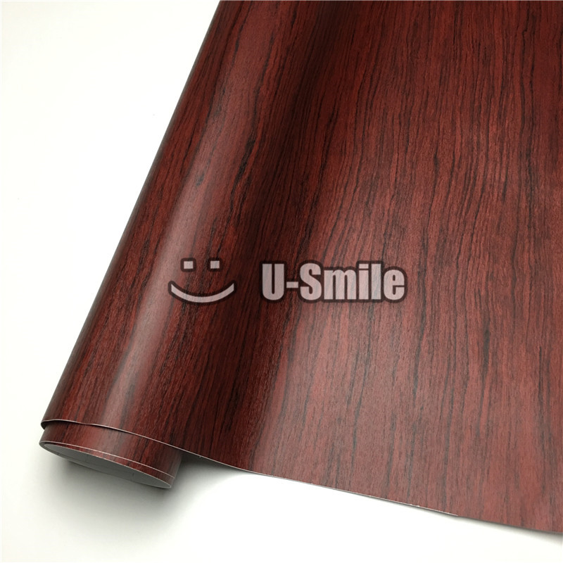 Rosewood wood vinyl wrap film sticker pvc