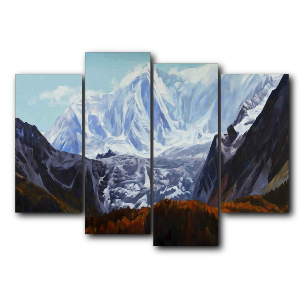 Snow Montenegro Scenery Wall Pictures Poster Print Canvas Painting Calligraphy Decorative for Living Room Bedroom Home Decor