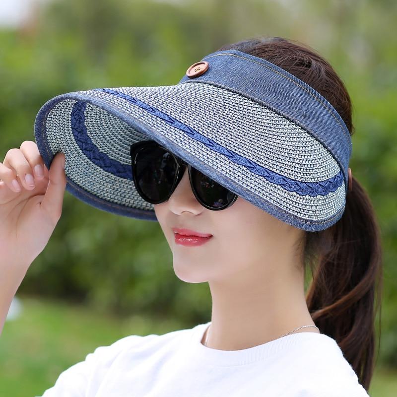 COKK Sombreros Mujeres Gran Ala Ancha Grande Playa de Verano Sombrero - Accesorios para la ropa - foto 4