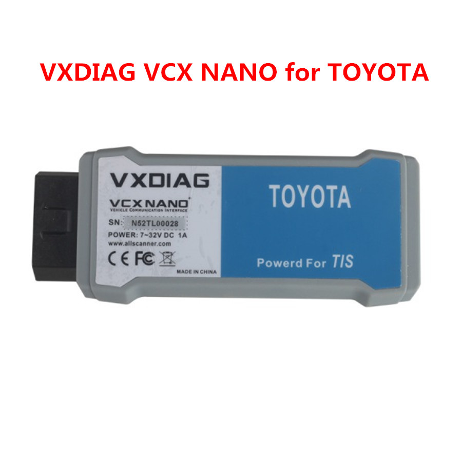 NEW VXDIAG VCX NANO for TIS Techstream V10.30.029 with SAE J2534 Without Wifi Function Free Shipping