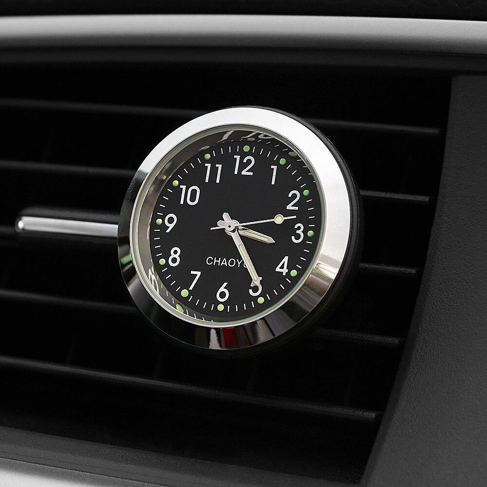 Car Ornament Digital Clock Auto Watch Air Vent Outlet Clip