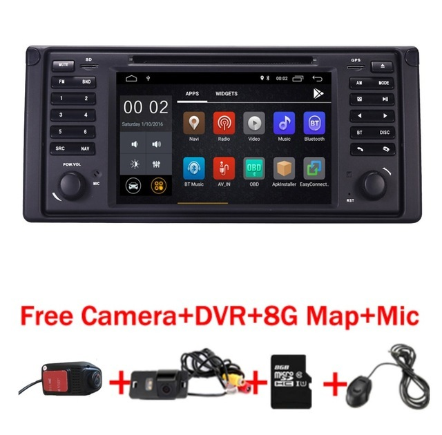 7 inch 1024x600 HD Touch Screen 2 din Android 5.1 Car DVD Radio Stereo for BMW E39 E53 X5 Wifi 3G Bluetooth Radio RDS USB IPOD