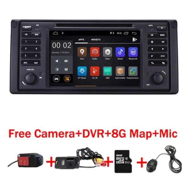 Android 8.1 Quad Core GPS Navigation 7 Lecteur DVD de Voiture pour BMW E39 5 Série/M5 1997- 2003 Wifi 3g Bluetooth DVR RDS USB Canbus
