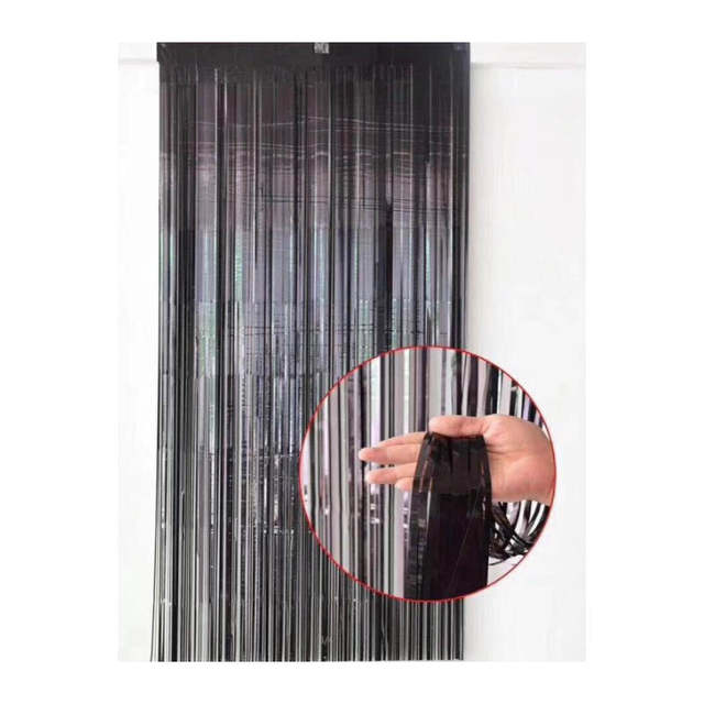 1m 2m Pink Gold Silver Rain Curtain Backdrop Foil Fringe Tinsel
