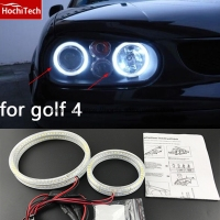 Hot Style SMD Angel Eyes Super Bright White Led Halo Light Kit For Volkswagen VW Golf