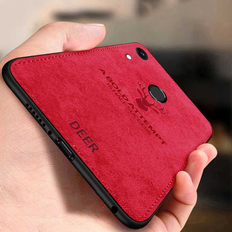 Keajor Case For Huawei Honor 8A Case Classic Fabric Bumper Soft Silicone Frame Funda For Huawei Honor8A  Y6 2019/Y6 Prime 2019