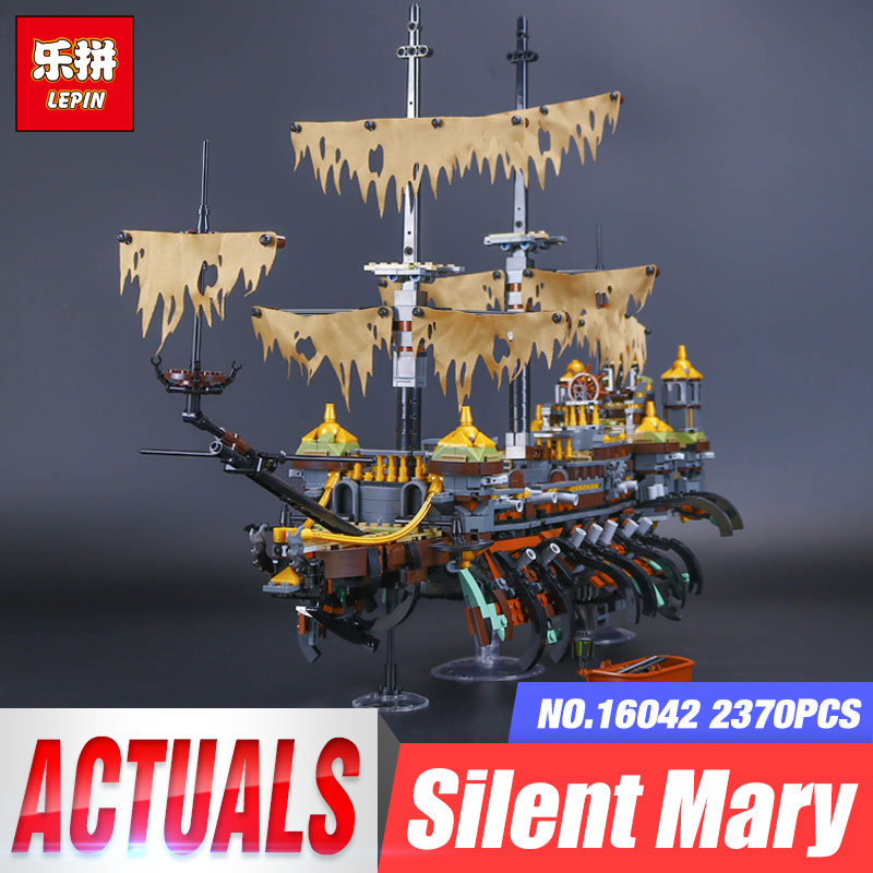 Lepin 16042 2344Pcs New Pirate Ship Series The Slient Mary Set Children Educational Building Blocks Bricks Toys Gift With 71042 lepin 16042 pirates of the caribbean ship series the slient mary set children building blocks bricks toys model gift 71042