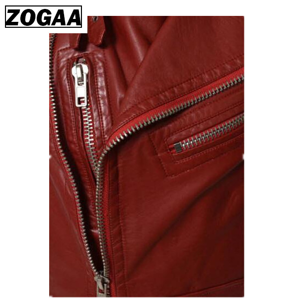 Zogga Men's Fashion Leather Vest Jackets Man Sleeveless Motorcycle Tank Tops Spring Autumn Zipper Decoration Outerwear Coats