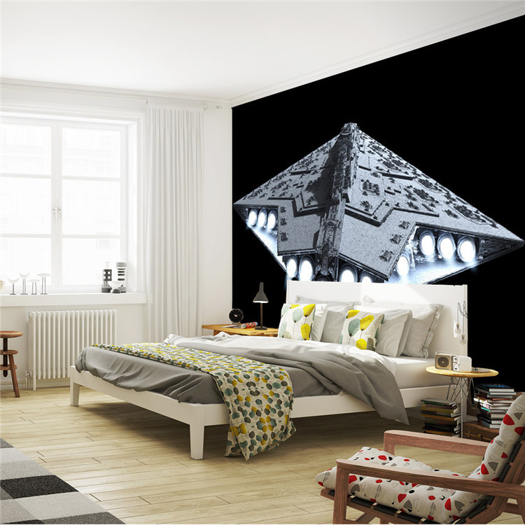 Star Wars Wall Murals custom wallpaper picture - more detailed picture about 3d