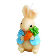 creative smokeless scented cute animal Carrot rabbit candle for children baby birthday and wedding party cake decorated candle