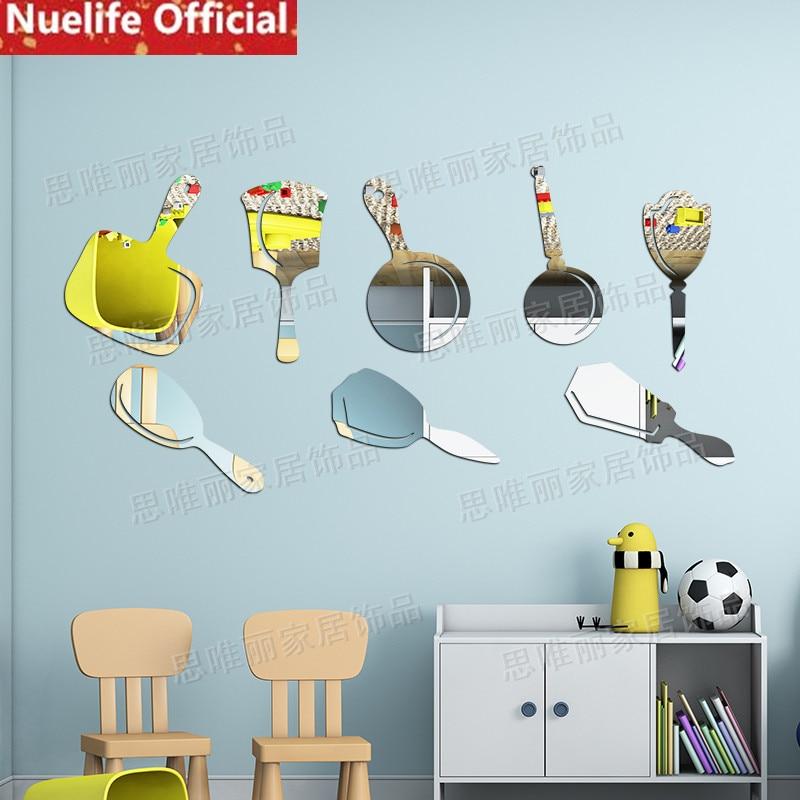 Appareils de cuisine conception acrylique 3d miroir autocollants salon cuisine enfant canapé TV fond décoratif miroir autocollants