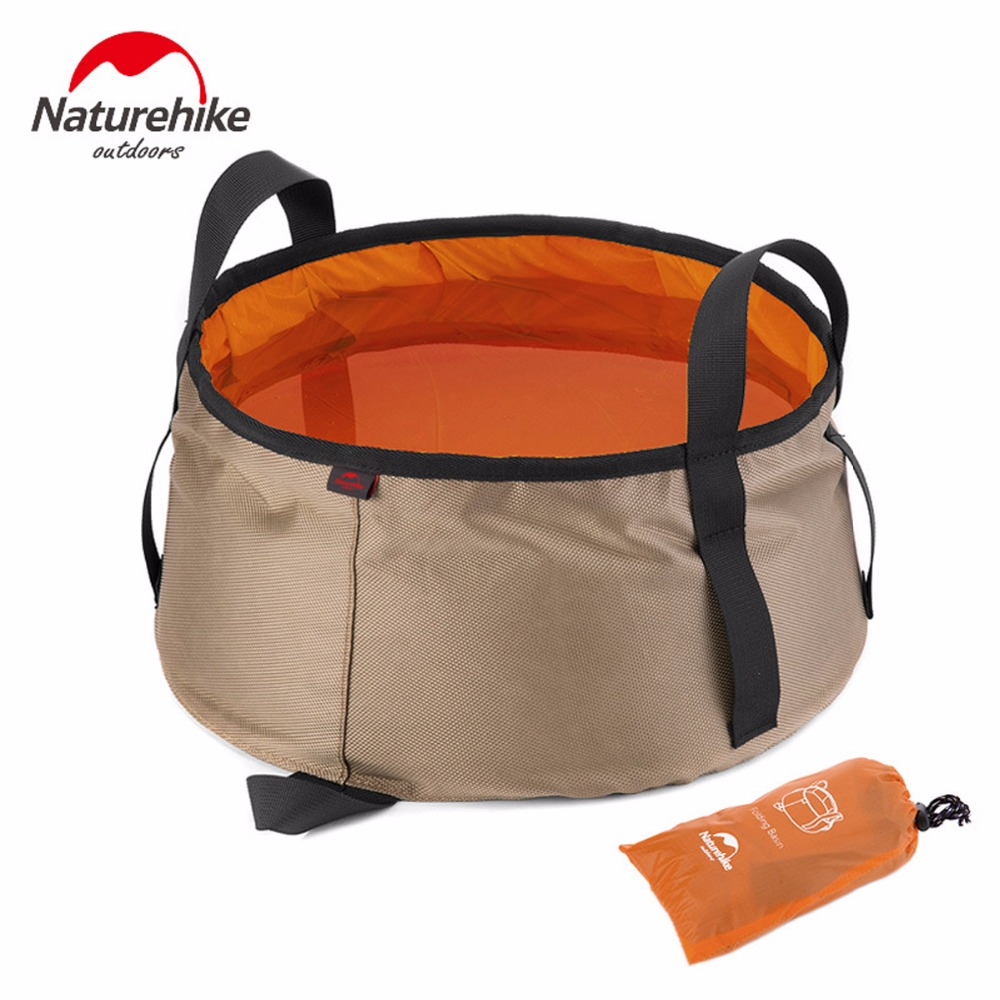 Image 5 - NatureHike Outdoor EDC Portable 10L Foldable Water Washbasin Ultralight Camping Basin Survival Water Bucket Foot Bath 3 Colors-in Water Bags from Sports & Entertainment