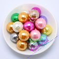 Hot Sale Free Shipping 120pcs/lot,20mm,Chunky Disco Pearl Bead, Mix Color ABS Pearl Faceted Beads For Decoration