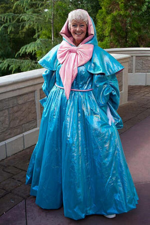Fairy Godmother Cosplay Costume Gown Cinderella Godmother  for Adult Women Dresses Halloween Party Custom Made Plus Size Costume