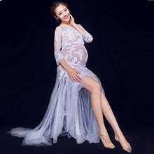 Maternity Gown Dress Pregnancy Photo Shoot Studio Clothing Maternity Gorgeous Long Dress Photography Props H483 materninty tulle photo dress maternity long tulle fitted mermaid dress maternity photography gown maternity wedding dress