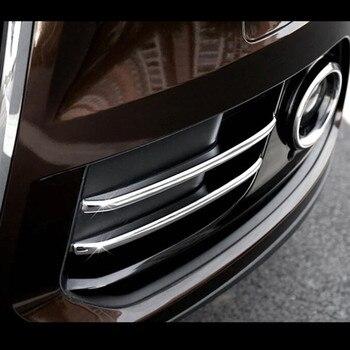 Front Fog Lamp Frame Decoration Cover Trim 4Pcs For Audi Q5 2012-2016 Chrome ABS Car Exterior Accessories