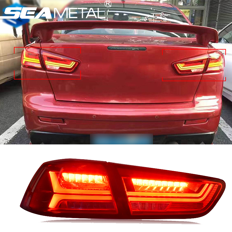 Car Taillight For Mitsubishi Lancer 2009 2010 2011 2012 2013 2014 2015 2016 LED Car Rear lamp Kit Tail lights Assembly Auto Lamp 1pcs universal car amber arrow panel yellow 14 smd led car side mirror rear view indicator turn signal light lamp