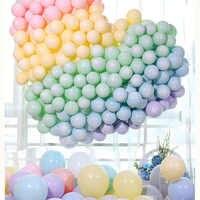 100 pièces Macaron bonbons Pastel Latex ballons arc-en-ciel licorne fête d'anniversaire ballon d'air pour mariage bébé douche fête décoration