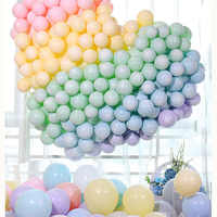 100pcs Macaron Candy Pastel Latex Balloons Rainbow Unicorn Birthday Party Air Balloon for Wedding Baby Shower Party Decoration
