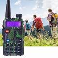 Promoção Camouflage BAOFENG UV-5R Walkie Talkie Dual Band Radio 136-174 Mhz & 400-520 Mhz Baofeng UV5R Rádio em Dois Sentidos handheld