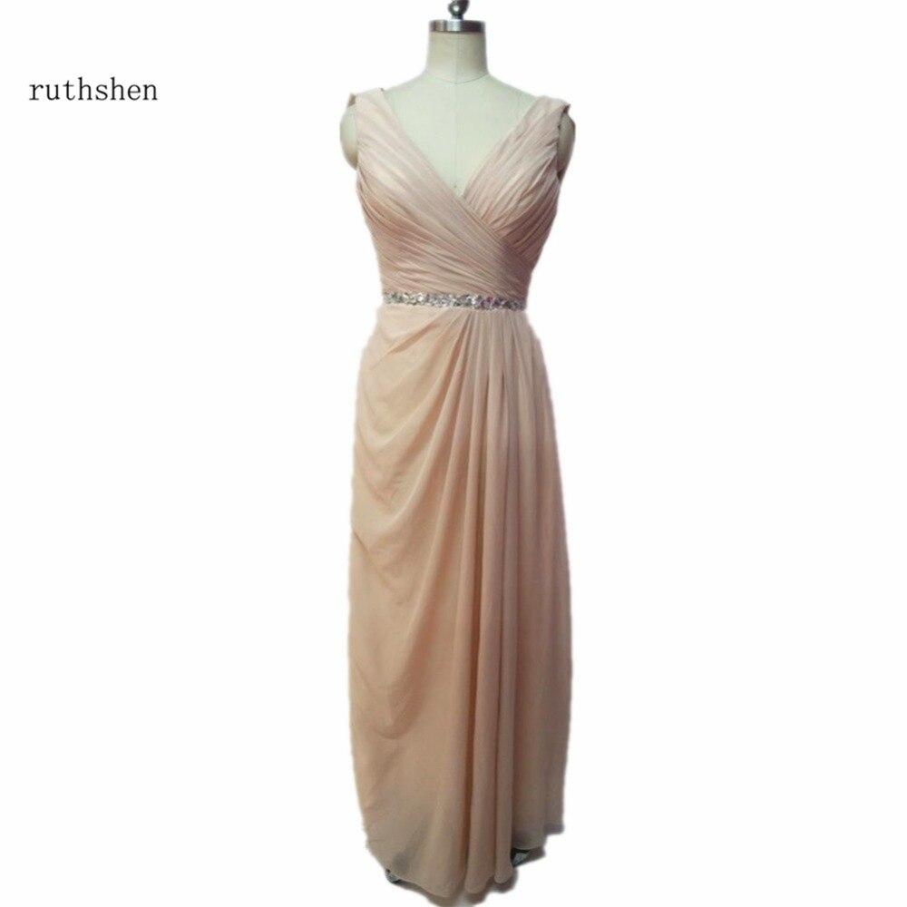 Hot Brides Maid   Dresses   Custom Made cheap Chiffon Pleats Long Abito Damigella Bridemaid   Dress   For Wedding   bridesmaids     dress