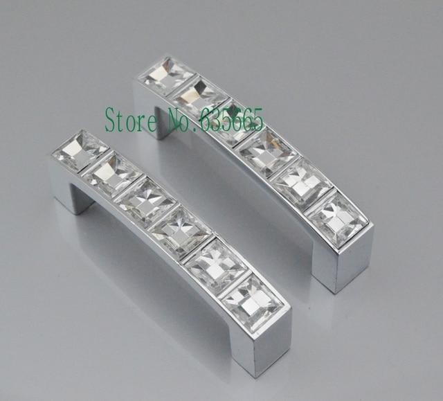 64mm Kristall Diamant Möbel Hardware Griff Türgriff Schublade ...