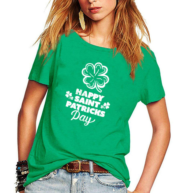 ab3e4143 Hillbilly New Green Tshirts for Women Casual St Patricks Day Women T-shirts  2019 Cotton Short Sleeved Unisex Oversize Tee Shirts