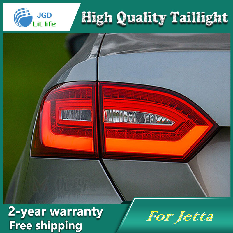 Car Styling Tail Lamp for VW Jetta 2011-2014 Tail Lights LED Tail Light Rear Lamp LED DRL+Brake+Park+Signal Stop Lamp one stop shopping styling for ix45 led tail lights 2014 new santa fe ix45 tail light rear lamp drl brake park signal