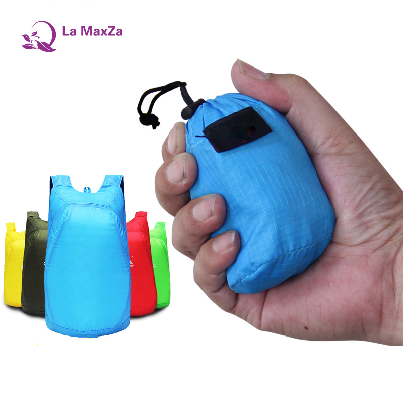 La maxza Легкий нейлоновый рюкзак, складной Водонепроницаемый рюкзак складной мешок Сверхлегкий пакет для Для женщин Для мужчин Путешествия