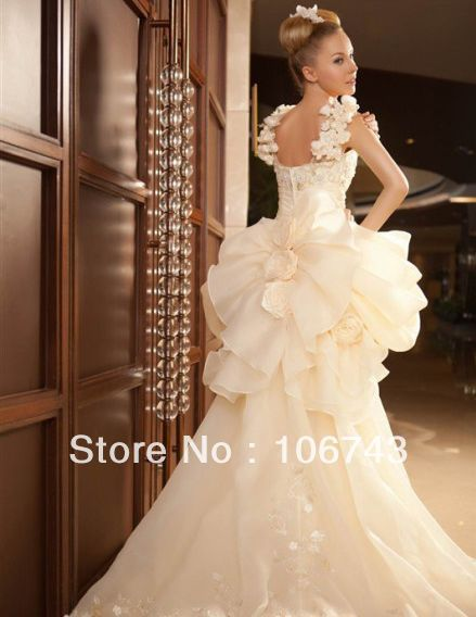 free shipping 2018 new style Sexy brides sweetheart princess Custom handmade beading flowers bridal gown   bridesmaid     dresses