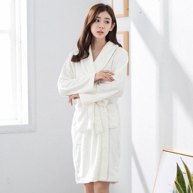High Fashion White Chinese Women s Flannel Warm Nightgown Classic Kimono  Yukata Wedding Bride Robe S M L XL XXL XXXL S0004 a192c74b1