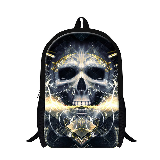 b73851f7be47 High Quality Men Cool Skull Backpack Zipper Children Casual Traveling Bag  Boys Book Bag Mochila Masculina Bolsa Kids School Bags