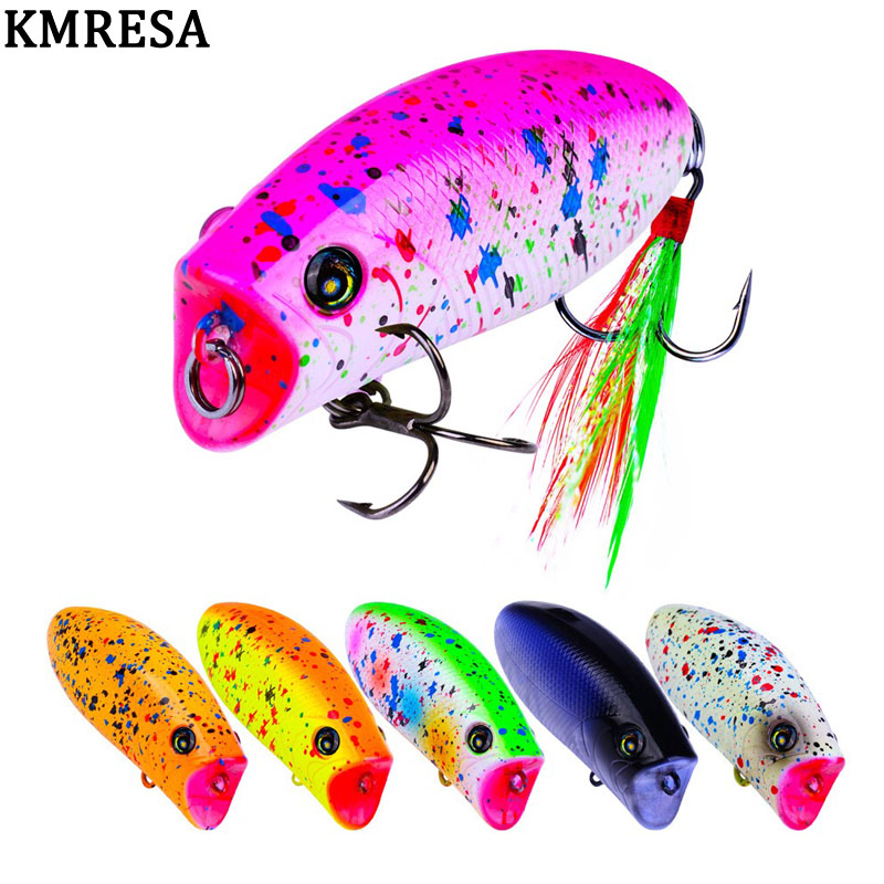 Image 2 - 1PCS mini popper lure 5.7CM 10G  lures trout ultralight fishing lure topwater bait finesse Crankbait Wobbler Minnow  Isca Poper-in Fishing Lures from Sports & Entertainment