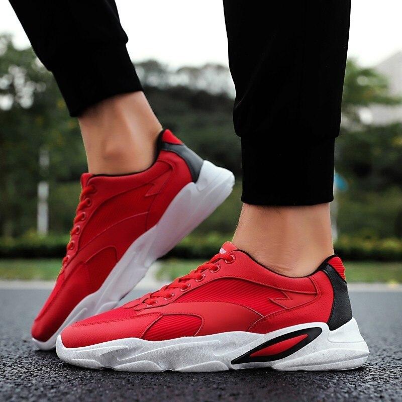 Casual Hommes blanc Rouge Chaussures Mâle Noir De Cpcook Marche Blanc Sneakers Confortable rouge Krasovki Formateurs HR0ExaZq