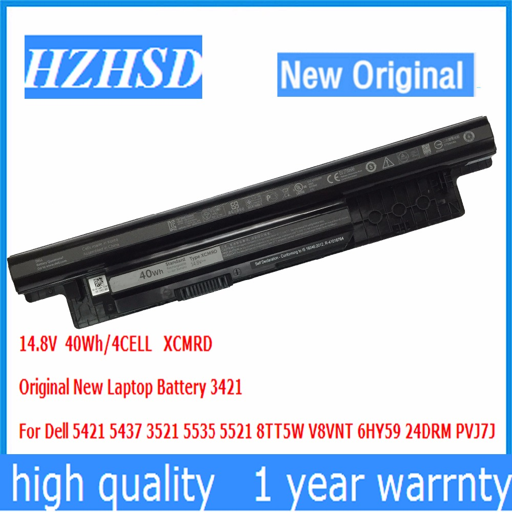 14.8V 40Wh/4Cells New Original XCMRD Laptop Battery For Dell Inspiron 3421 14R-5421 5421 3521 5521 3721 15-3521 3421 Series