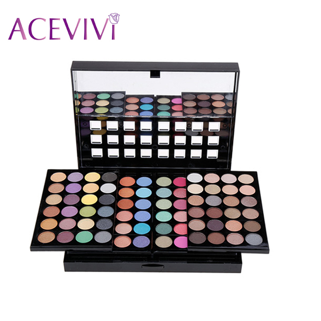 ACEVIVI New Lady Women Eyeshadow Wedding New Year professional 78 Colors Eyeshadow Palette Makeup Set