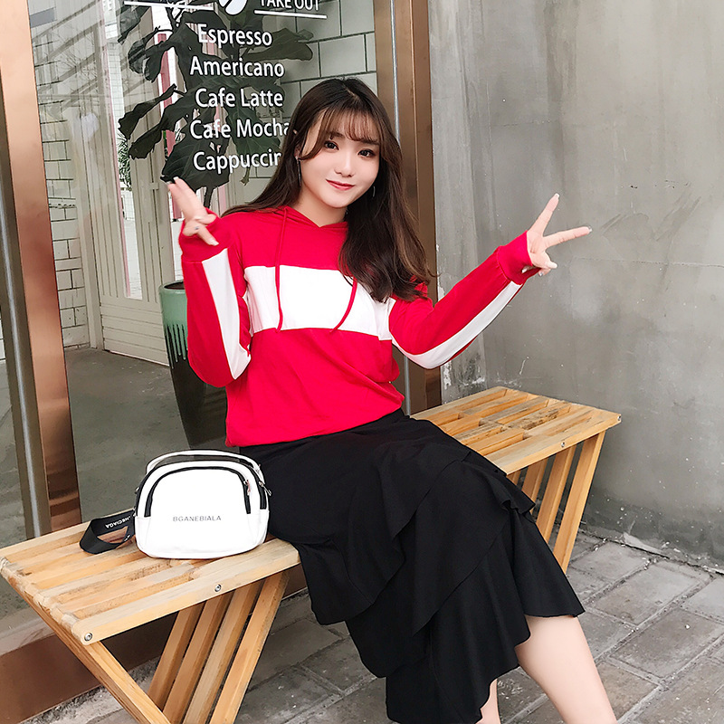 Femmes Style Nouveau Costumes 2019 Deux 845 Plus Robe Printemps Ensemble Mode La taille Rouge À De pièce qH50x5RTAn
