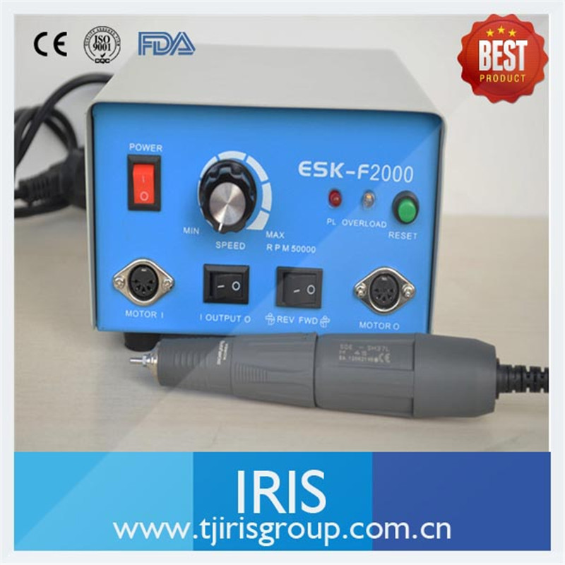 Dental Lab Micromotor Hand piece High Speed 45000 rpm Micromotor Hand piece Polishing ESK-F2000/ SH37LN /M45 /SM45C
