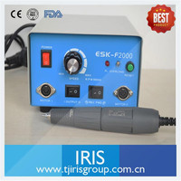 Dental Lab Micromotor Hand Piece High Speed 45000 Rpm Micromotor Hand Piece Polishing ESK F2000 SH37LN