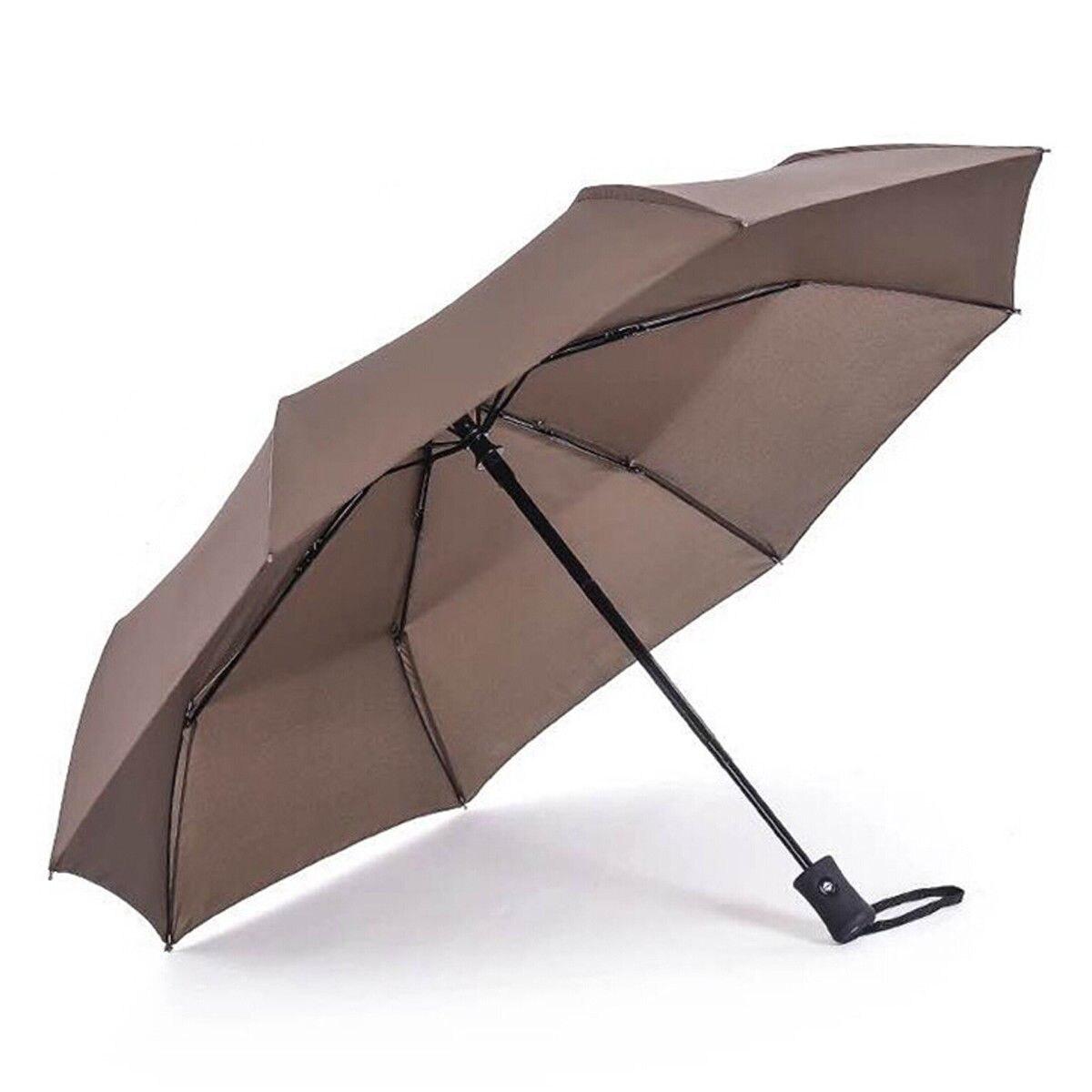 Новое поступление популярный автоматический зонт ветрозащитный мужской черный Компактный широкий автоматический открытый закрытый легкий - Цвет: Coffee