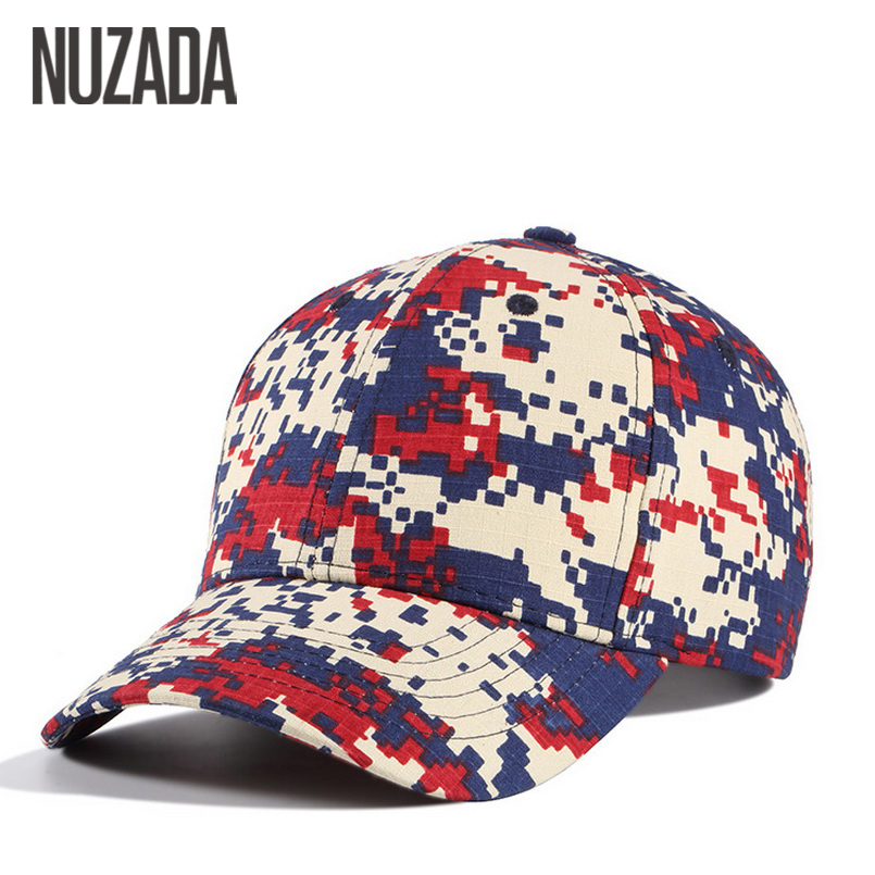 Brand NUZADA Spring Summer Camouflage Women Men   Baseball     Cap   Leisure Couple Snapback   Caps   High Quality cotton Hats Bone