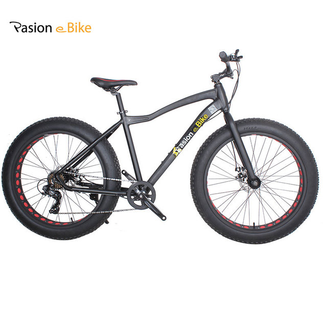 PASION E FIETS Aluminium frame 26*4.0 7 Speed fat tire bicicleta mountainbike vet fiets 18 inch frame vet fiets met fender