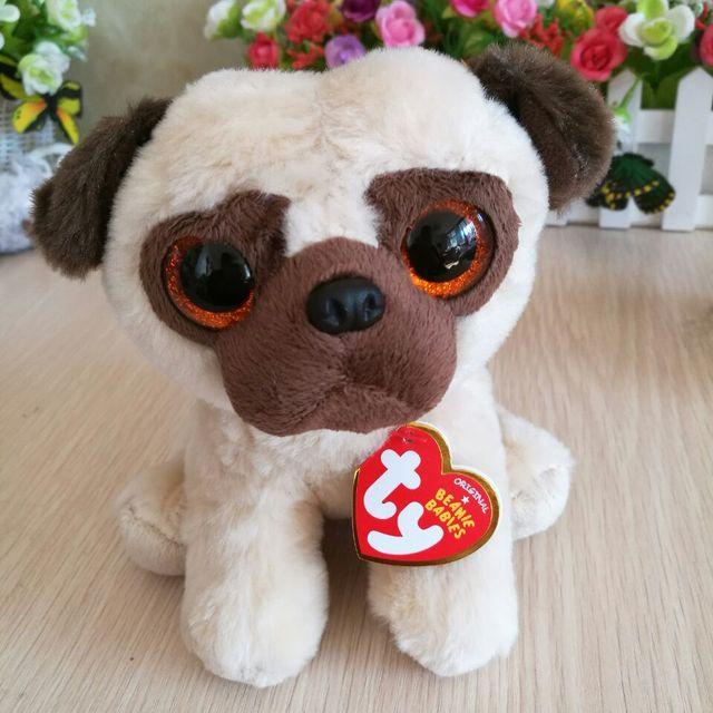 d945b4825e8 Rufus pug dog 15cm 6 inch Ty classic Plush Toy Stuffed Animal Soft Kids Toy  Christmas Gift Hot Sale