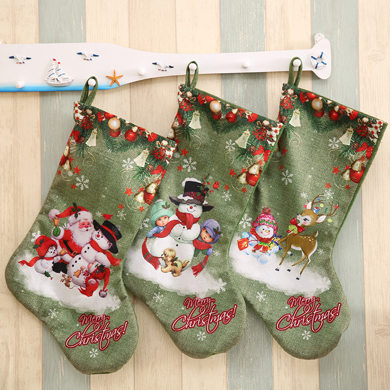 aliexpresscom buy 3pcs green christmas stockings gift bag christmas tree decorations large size christmas socks gift candy socks pendants from reliable