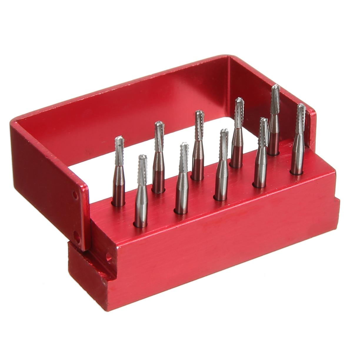 10pcs Tungsten Steel Drill Polisher Dental Polishing Burs Rotary Tool Set Teeth Whitening Dentist Equipment