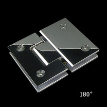 Bright brushed bathroom clamp glass door hinge shower glass door accessories 304 stainless steel door holder 180 degree mirror