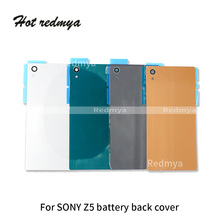 Glass Housing Back Cover For Sony Xperia Z5 E6603 E6633 E6653 E6683 Battery Cover Rear Panel Door Housing Case Replacement все цены