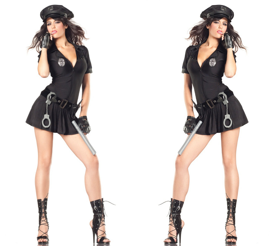 Police Costume Adult Womens Sexy Swashbuckler Wench Girl -4916
