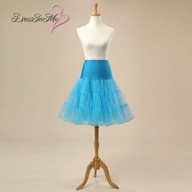 Black Yellow Pink Red Aqua Blue Short Petticoat Crinoline for ...