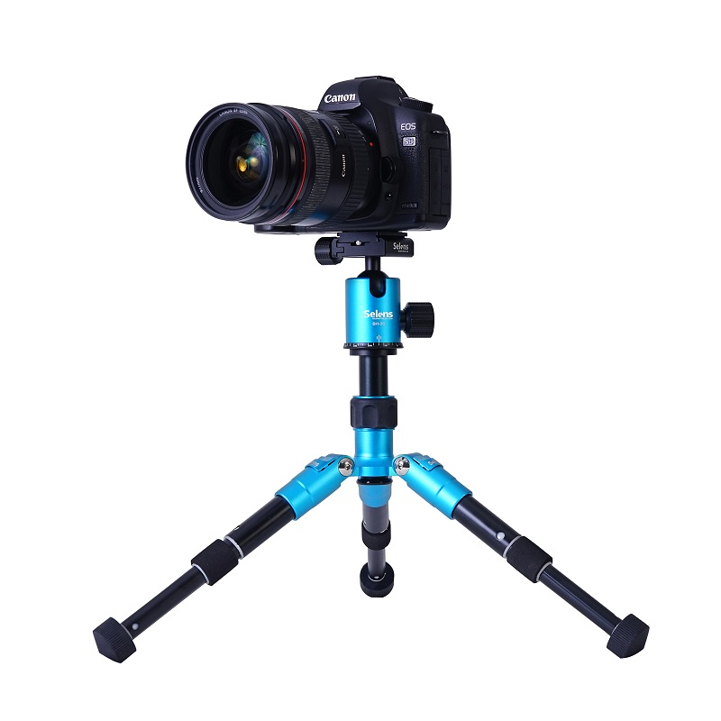 mini 46.5cm 18.2 Portable camera Tripod with ballhead protect bag for DSLR camera travel trip shooting
